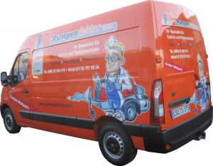 Pumpendoktor Fahrzeug für den mobilen Service
